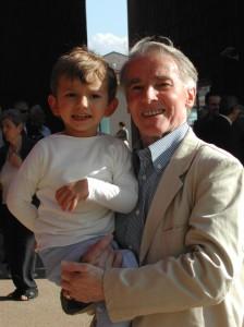 e qui sono con il mio nonno